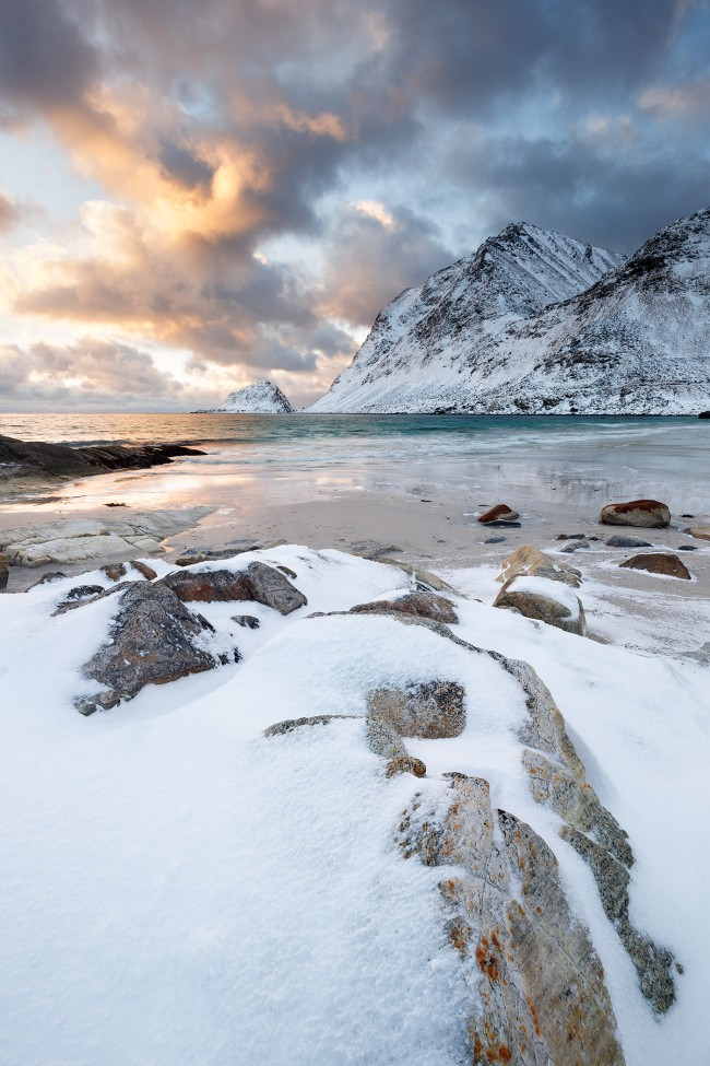 Haukland beach Lofoten Norvège - Nicolas Rottiers photographe paysage